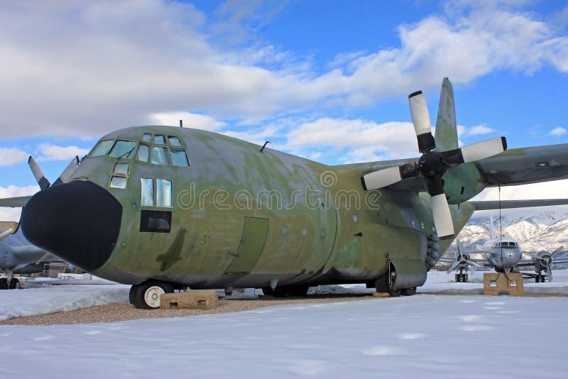 Avião das forças armadas do vintage imagem de stock