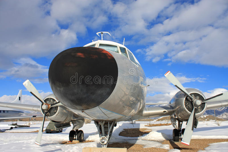 Avião das forças armadas do vintage imagens de stock royalty free