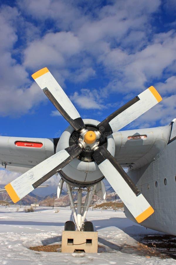 Avião das forças armadas do vintage imagem de stock royalty free