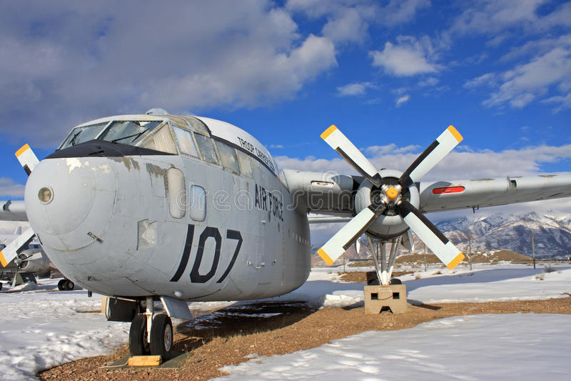 Avião das forças armadas do vintage foto de stock