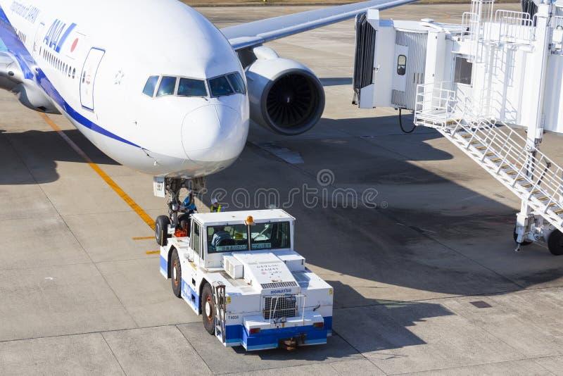 Avião de All Nippon Airways (ANA) imagens de stock royalty free