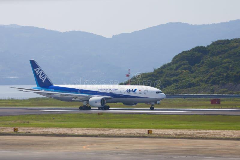 Avião de All Nippon Airways (ANA) fotografia de stock