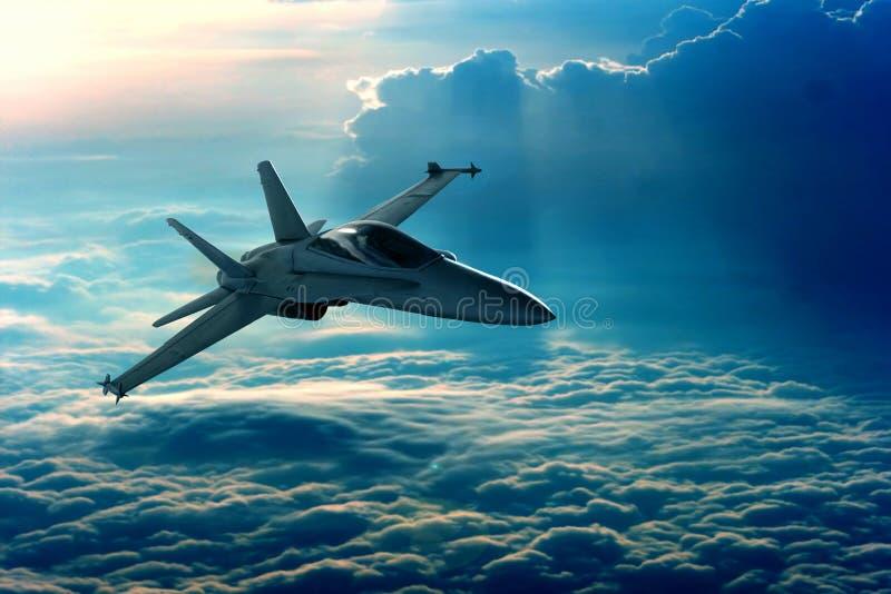 Avião de combate fotografia de stock royalty free