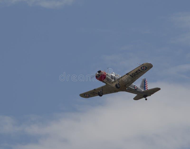 Avião de combate do exército de WWII E.U. fotos de stock