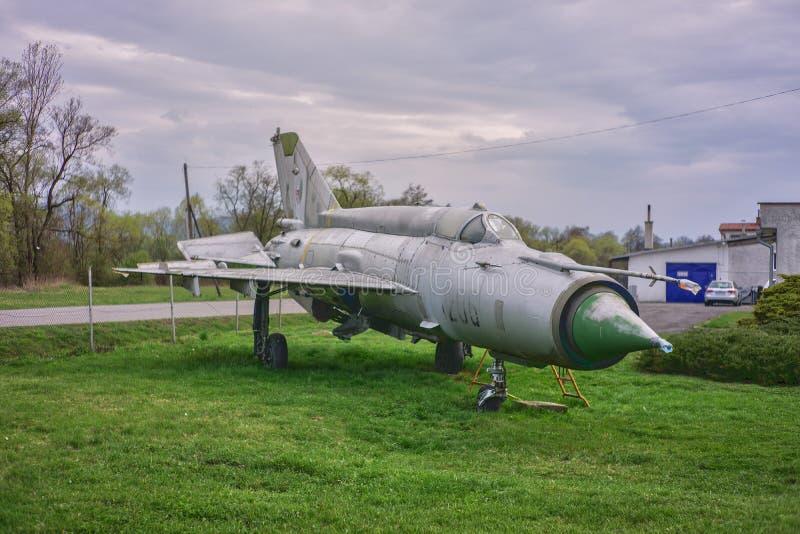 Avião de combate do jato Mig-21 imagens de stock