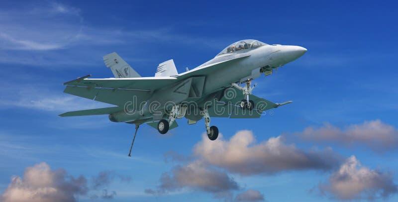 Avião de combate do zangão F-18 imagem de stock