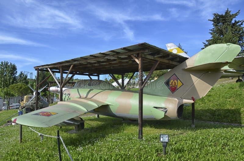Avião de combate MiG-15 aposentado fotografia de stock royalty free