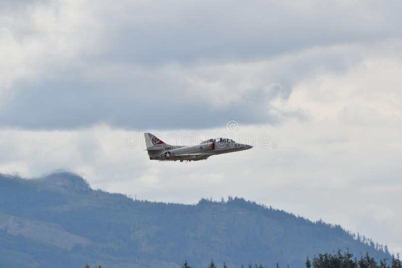 Avião de combate de A4 Skyhawk imagens de stock royalty free