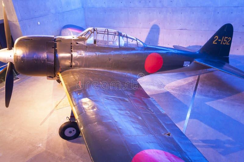 Avião de combate zero do japonês fotografia de stock