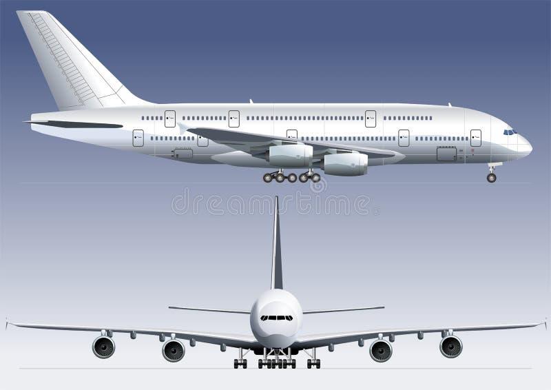Avião de dois andares de Lagest ilustração royalty free