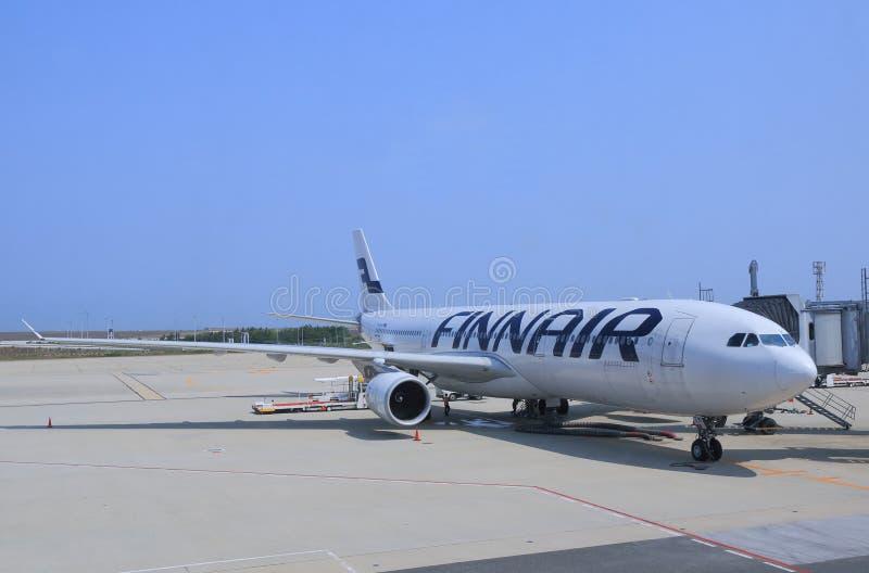 Avião de Finnair imagem de stock