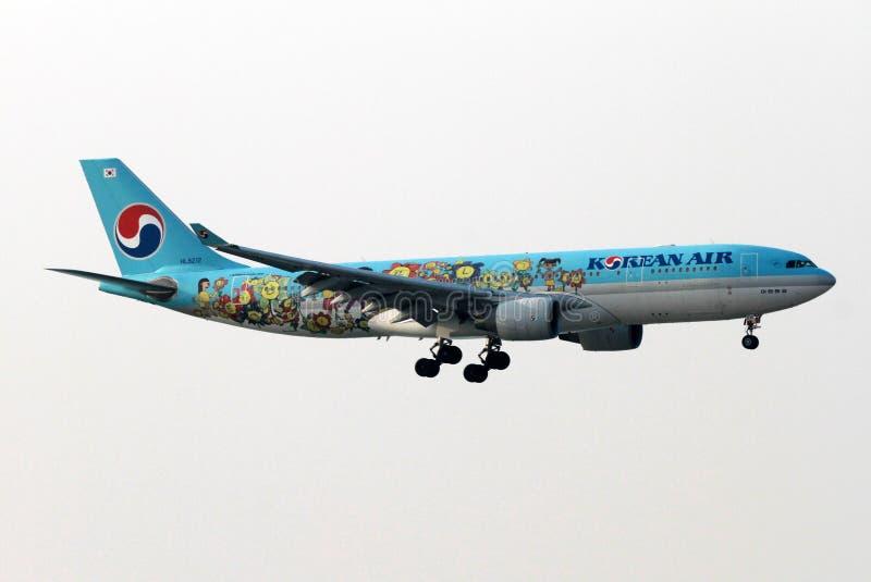 Avião de Korean Air fotos de stock