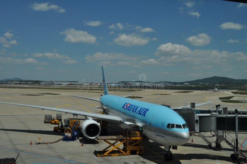 Avião de Korean Airlines foto de stock
