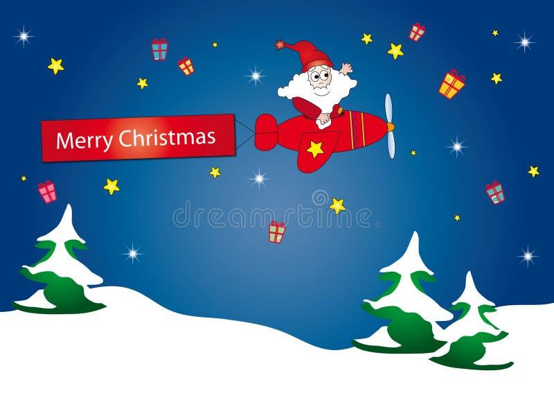 Avião de Papai Noel ilustração royalty free