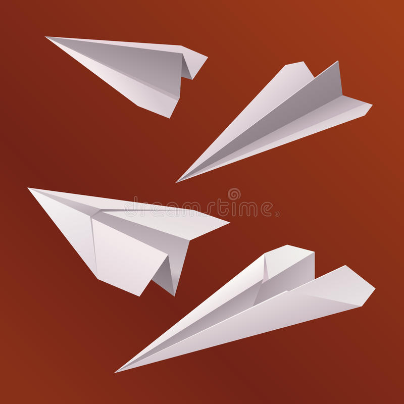 Avião de papel do origâmi fotografia de stock