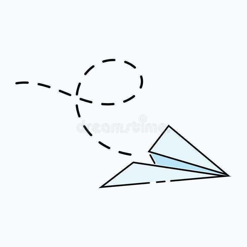 Aviao De Papel Dos Desenhos Animados Logotipo Dos Avioes Feitos Do