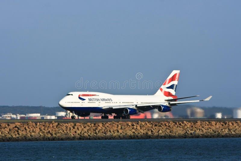 Avião de passageiros do jato de British Airways Boeing 747 fotos de stock