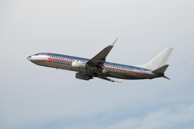 Avião de prata do jato imagem de stock royalty free
