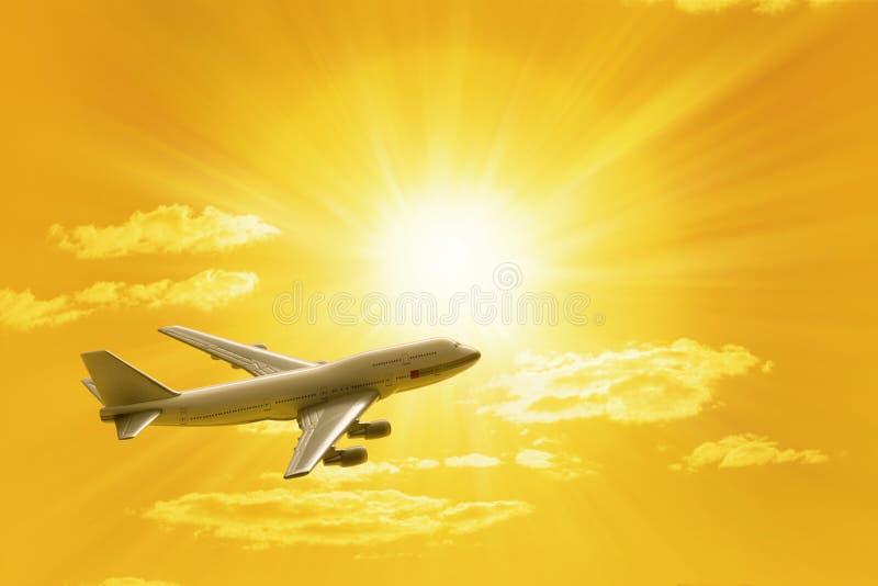 Avião de viagem imagens de stock royalty free