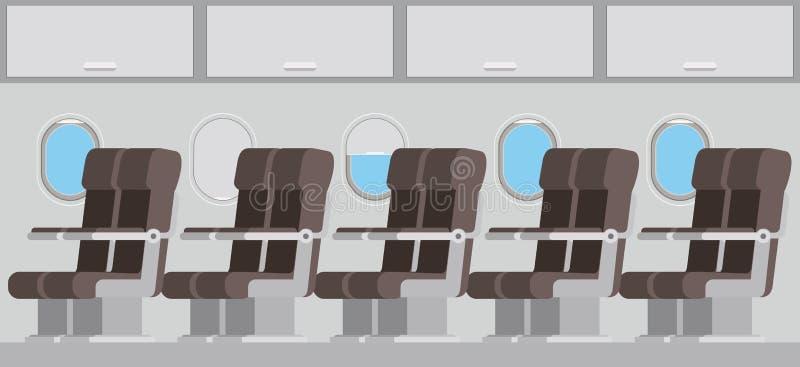 Avião de Windows com cadeiras ilustração royalty free