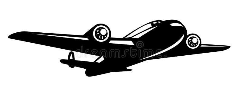 Avião do bombardeiro da segunda guerra mundial ilustração stock