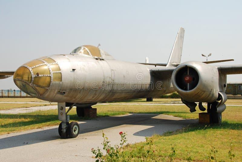 Avião do bombardeiro do vintage foto de stock royalty free