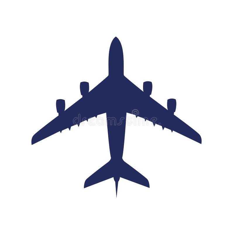Avião do passageiro isolado em um fundo branco ilustração do vetor