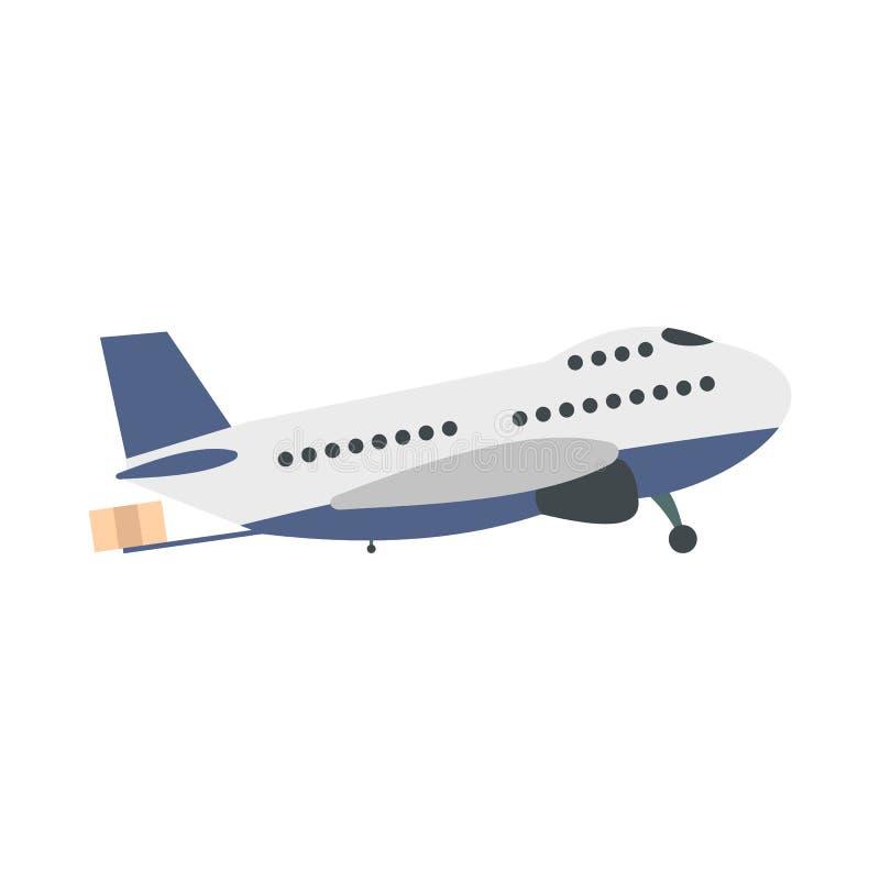 Avião do passageiro liso ilustração stock