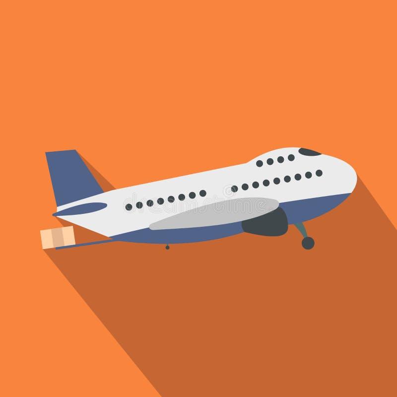 Avião do passageiro liso ilustração royalty free