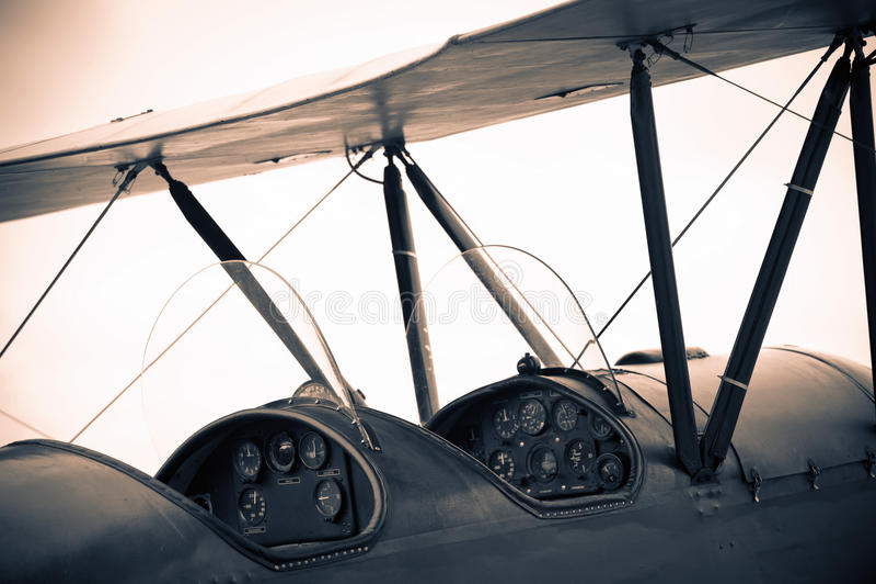 Avião do vintage foto de stock royalty free