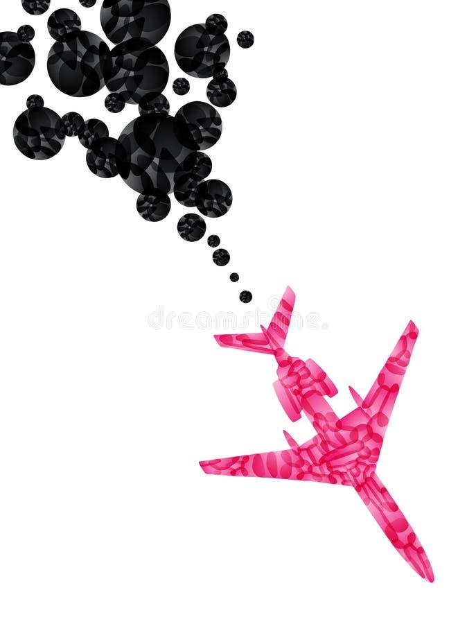 Avião, fundo abstrato do vetor ilustração stock