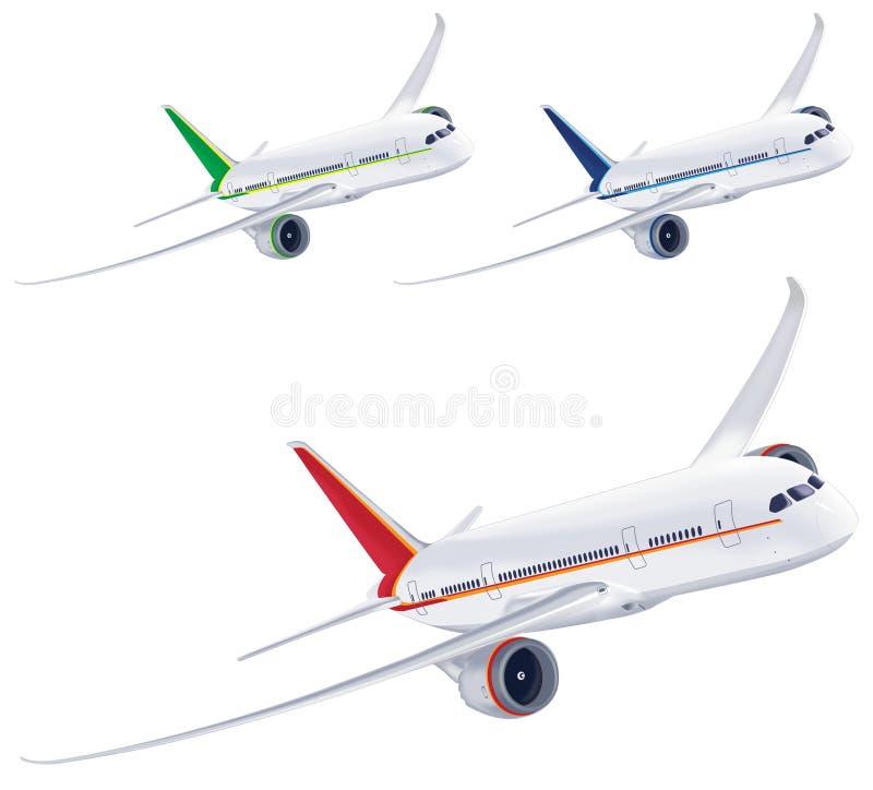 Avião isolado no fundo branco ilustração royalty free