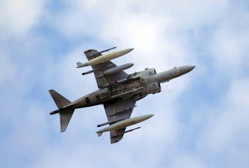 Avião militar foto de stock