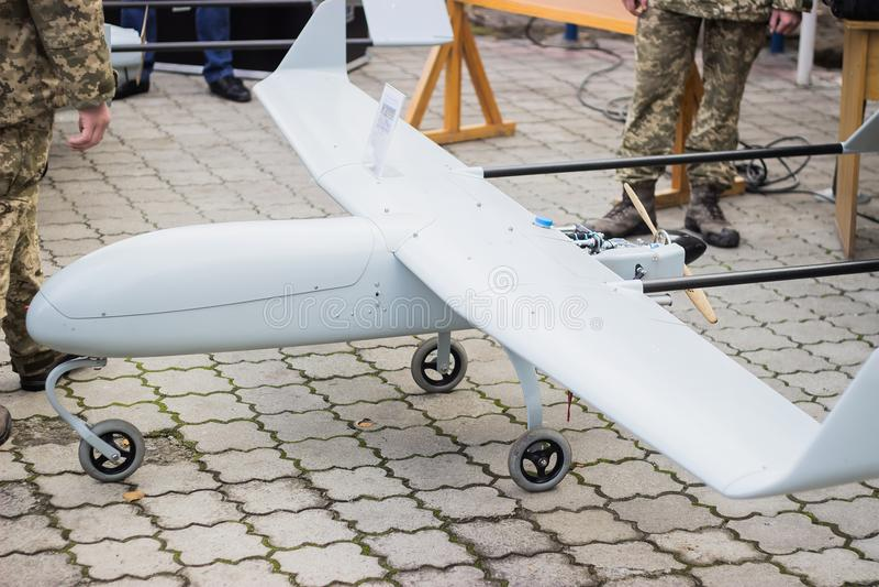 Avião militar 2não pilotado imagens de stock royalty free