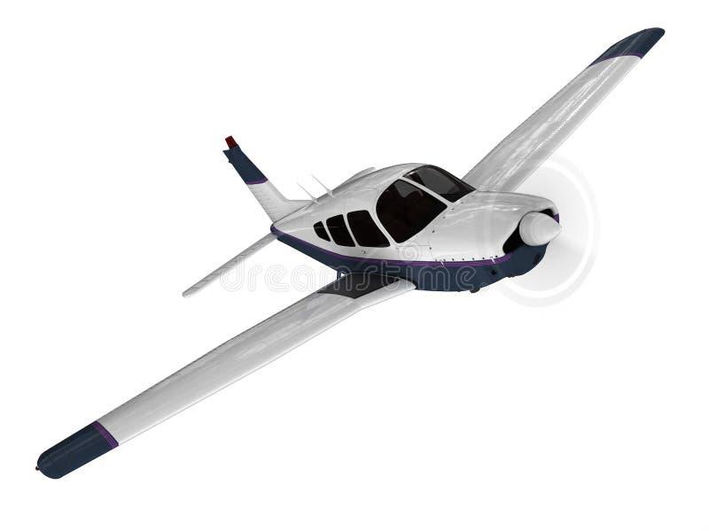 Avião moderno pequeno do passanger ilustração royalty free