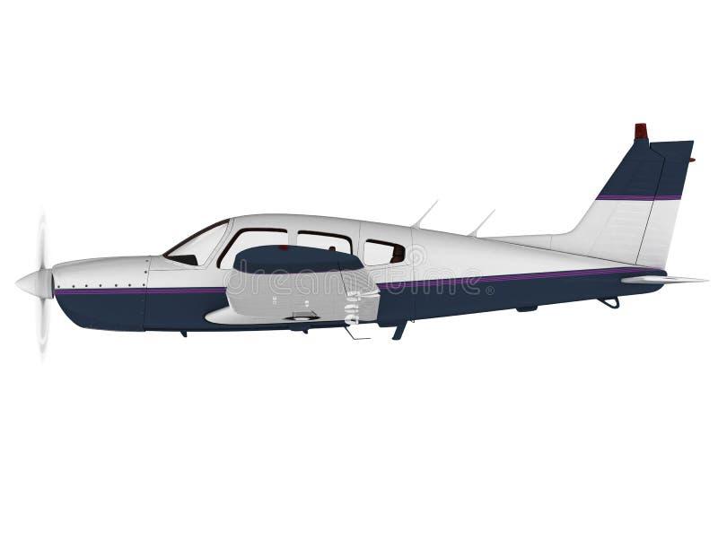Avião moderno pequeno do passanger ilustração do vetor