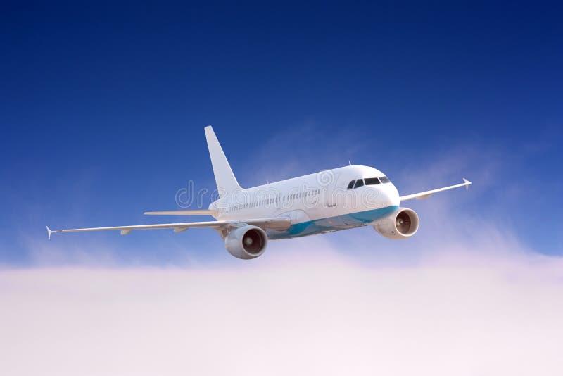 Avião no ar imagem de stock royalty free