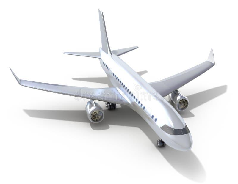 Avião no fundo branco. ilustração royalty free
