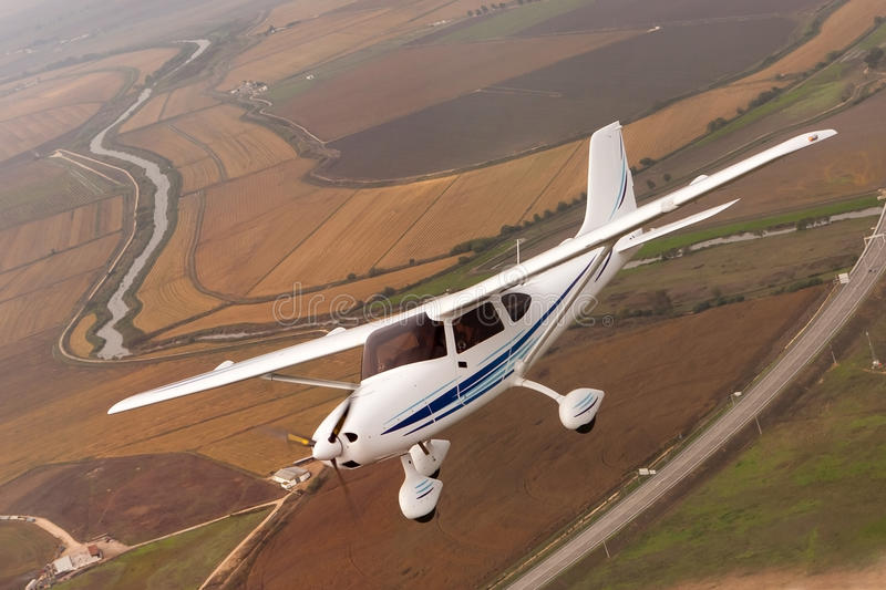 Avião pequeno foto de stock