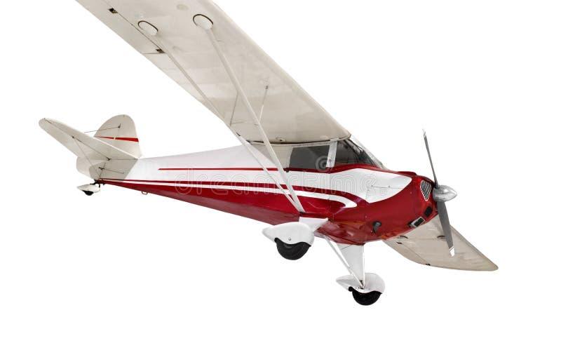 Avião pequeno da cauda-roda do vintage isolado foto de stock