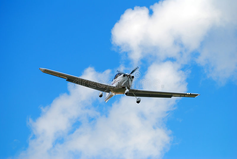 Avião pequeno da hélice imagens de stock royalty free