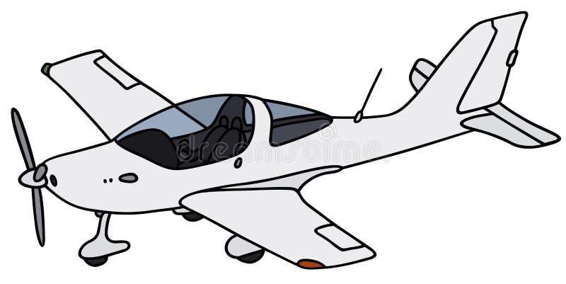 Avião pequeno da hélice ilustração do vetor