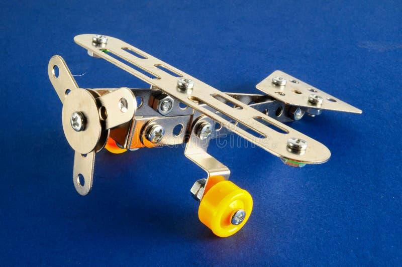 Avião pequeno do plano do metal do brinquedo imagens de stock royalty free