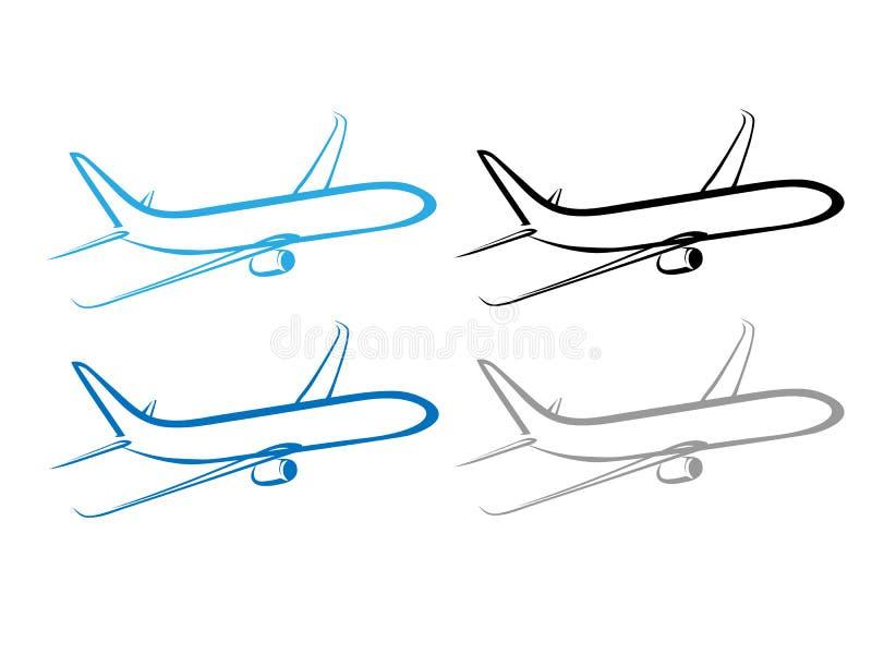 Avião, plano, símbolo do avião, avião estilizado