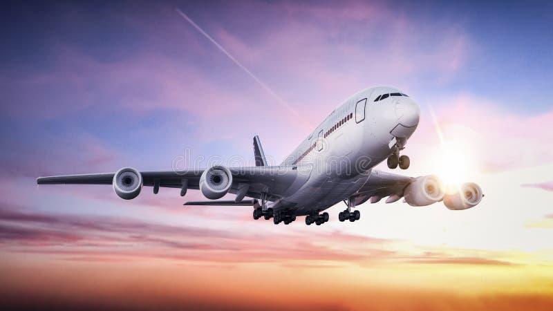 Avião que descola do aeroporto ilustração stock