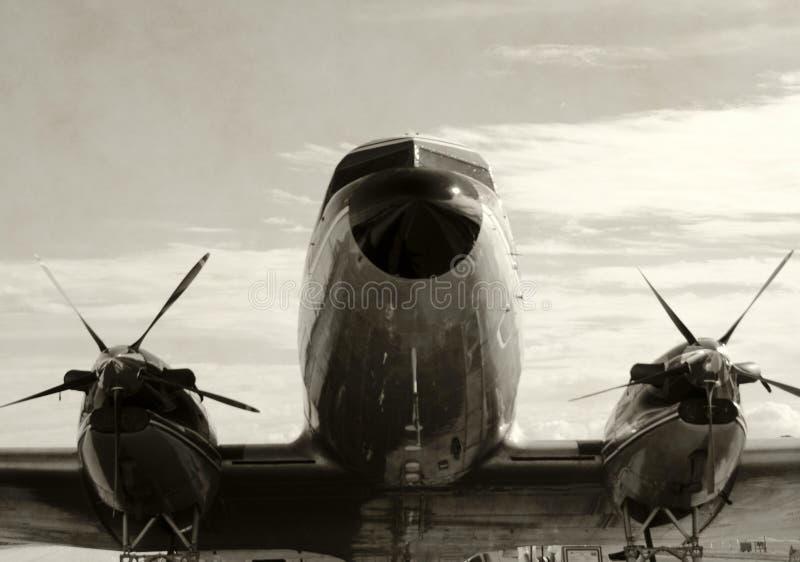 Avião velho da hélice imagem de stock