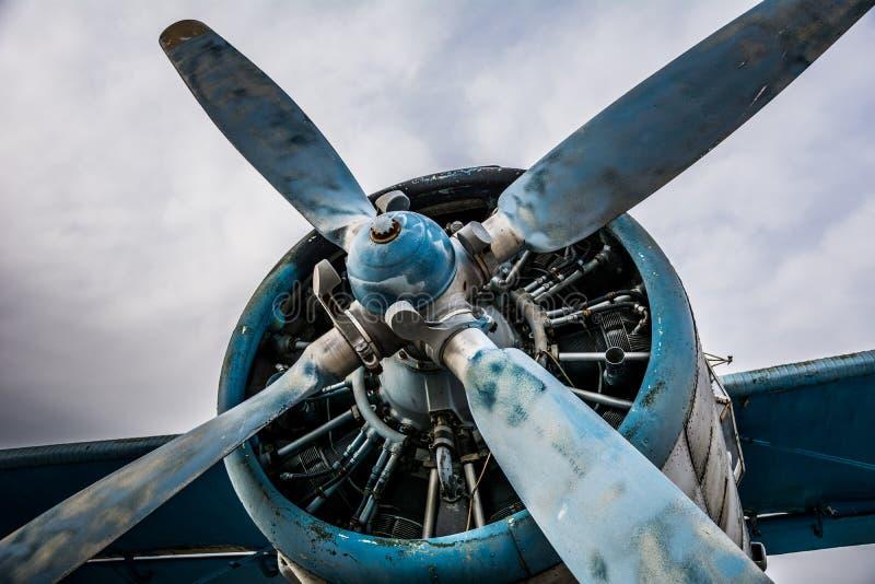 Avião velho da hélice fotografia de stock