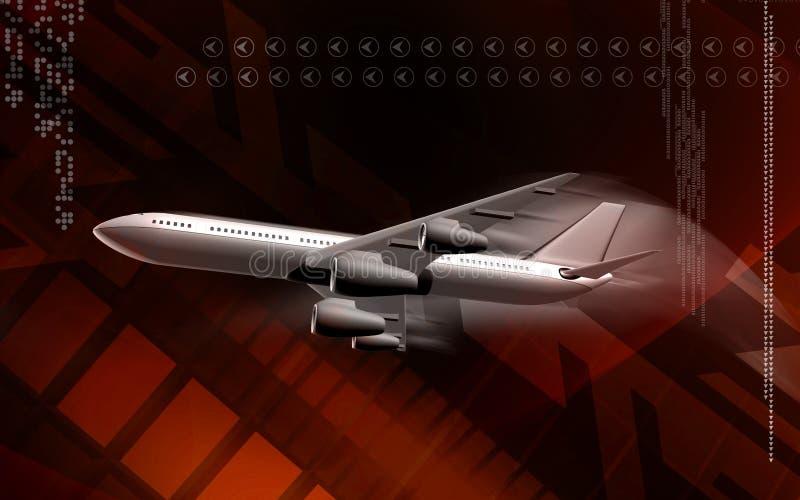 Download Avión stock de ilustración. Ilustración de alas, aeropuerto - 7282415