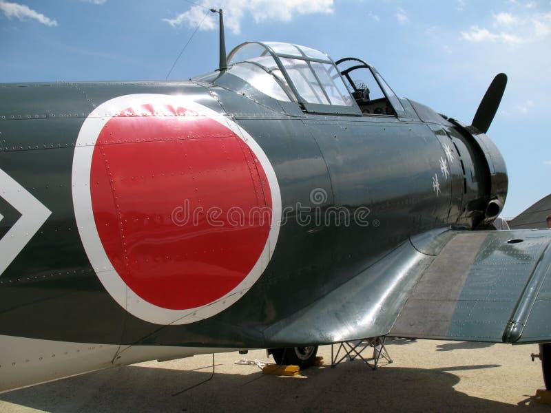 Avión de combate cero de WWII fotografía de archivo