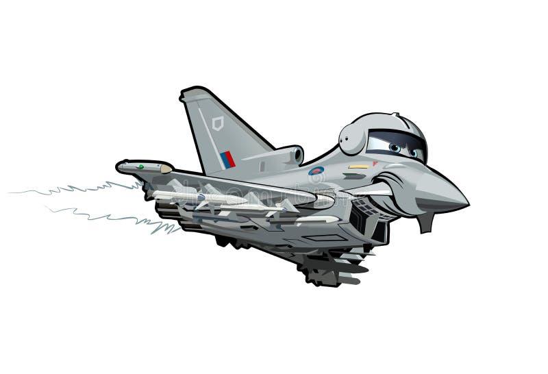 Avión de combate de la historieta stock de ilustración